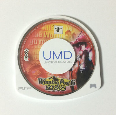 USED PSP Disc Only Winning Post 6 2008 JAPAN Sony PlayStation Portable Japanese