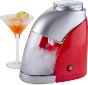 Andrew James Electric Ice Crusher in Red / Silver, 55W, 600ML Capacity