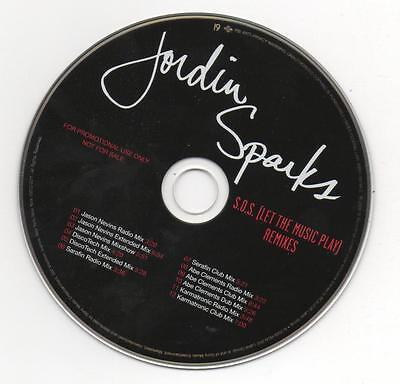Jordin Sparks S O S   Let The Music Play  2008 Limited Edition Promo Remixes Cd