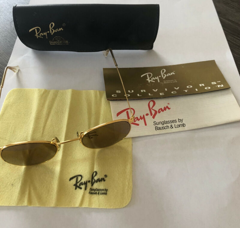 Ray-Ban W1911 Diamondhard -- Sunglasses -- Unisex -- Gold Plated