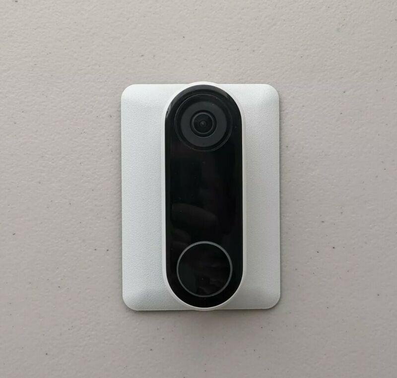 NEST Hello Doorbell Mount 1-Gang Metal Wall Plate, White Textured