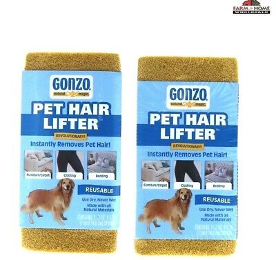 Gonzo Pet Hair Lifter Sponges ~ 2 Pack ~ New (Gonzo Sponges)