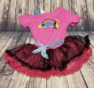 Girls Disco Dress (Child Girls '60s 70's Diva Disco Pink Dress Size)