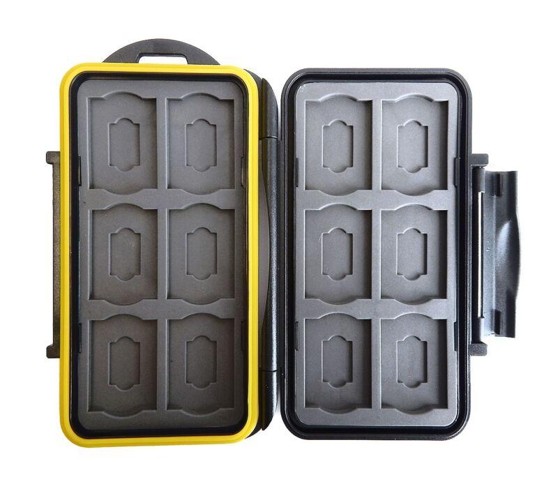 JJC MC-SDMSD24 Rugged Waterproof Memory Card Case (12x SD + 12x microSD)