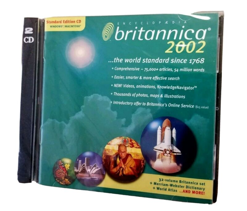 Encyclopedia Britannica 2002 2-Disc PC CD ROM