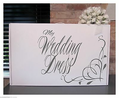 A selection of Personalised Wedding Dress Storage Boxes