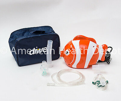 Child Pediatric Nebulizer Aerosol Compressor For Asthma Copd Nemo Fish Model