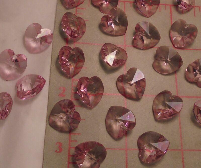 Heart Pendants 14mm Crystal Valentinit 12 Preciosa M.C