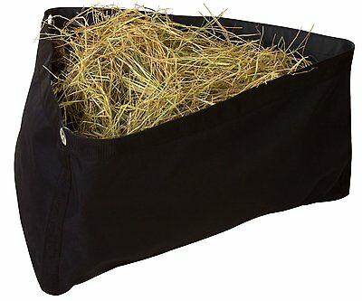 Corner Feeder with Mesh Bottom - by Southwestern Equine (Black)