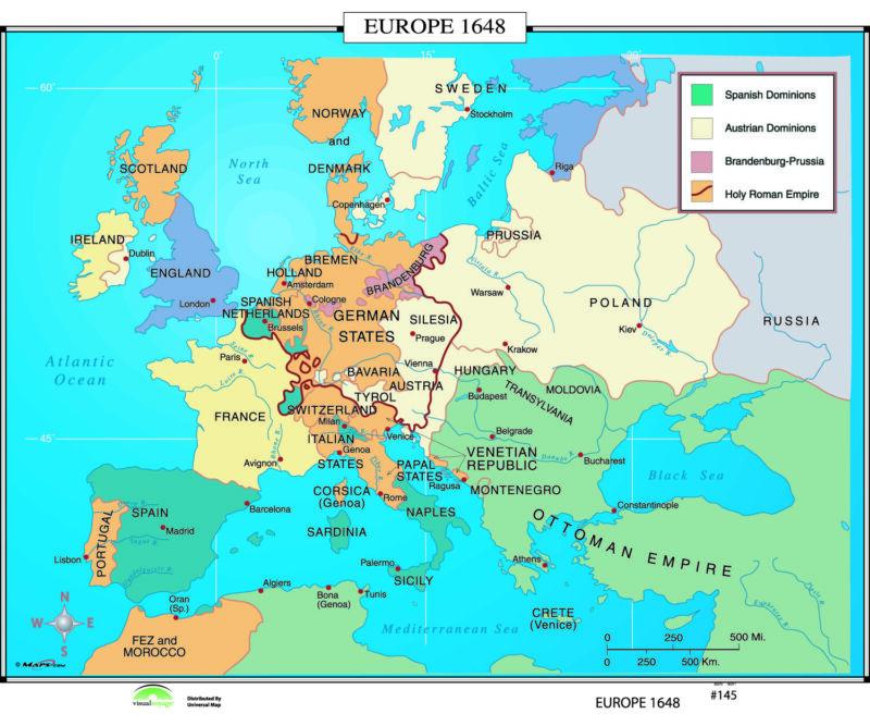 145 Europe, 1648