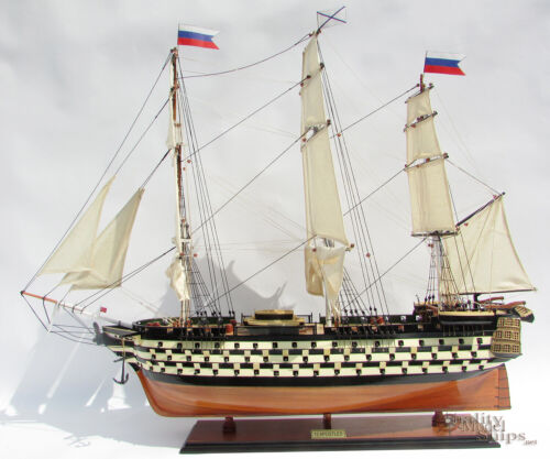 Twelve Apotles Handcrafted Russian Wooden Ship Model Ready Display 37""