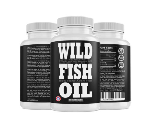 Wild Fish Oil Caps, Sustainably Harvested, FOS Certified, EPA DHA DPA Supplement