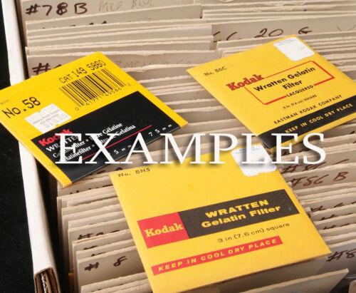 "Wratten 40 44 44A 45A 46 47B 48 48A 49 49B Filters 2x2"" 50mm Kodak Gel Gelatin"