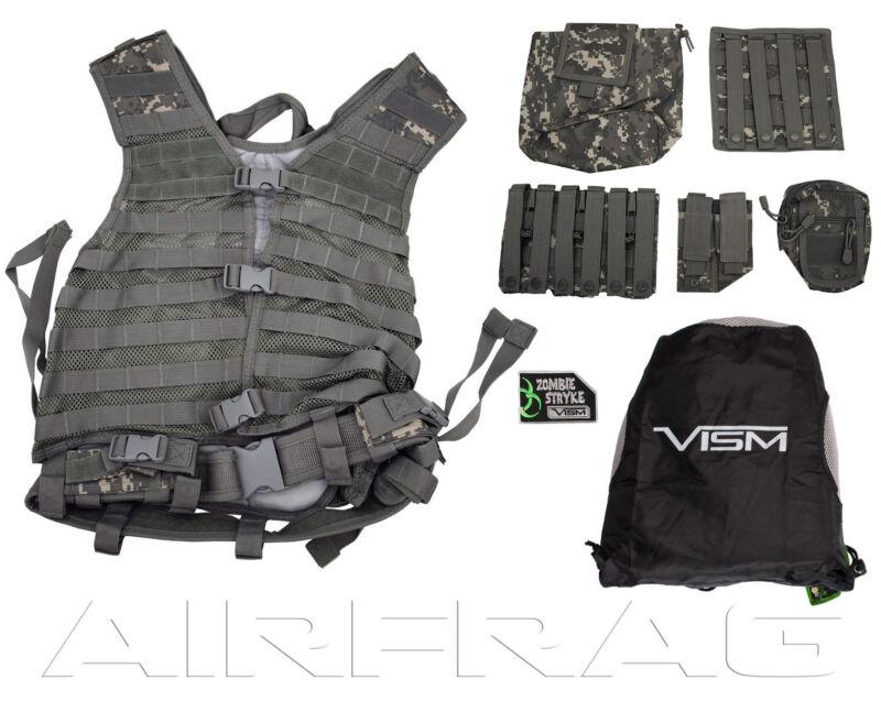 NcSTAR Vism Premium MOLLE / PAL Vest & Accessories Zombie Dead Ops Kit Digi Camo