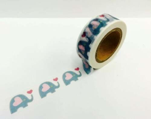 Elephant Washi Tape Papercraft Planner Supply journal bujo baby invites love