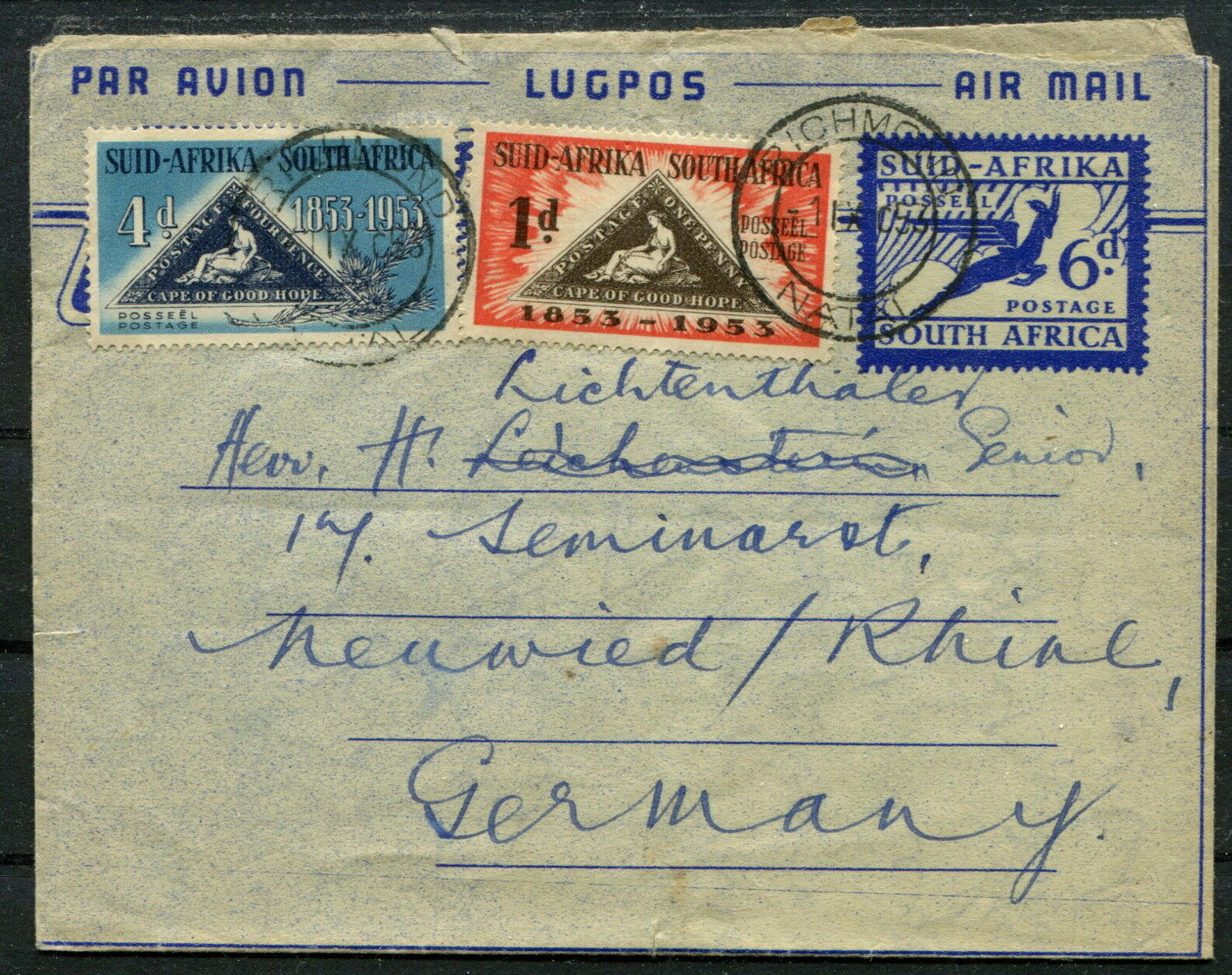 Süd-Afrika Lupo Air Mail GA mit ZF Richmond ~ Neuwied