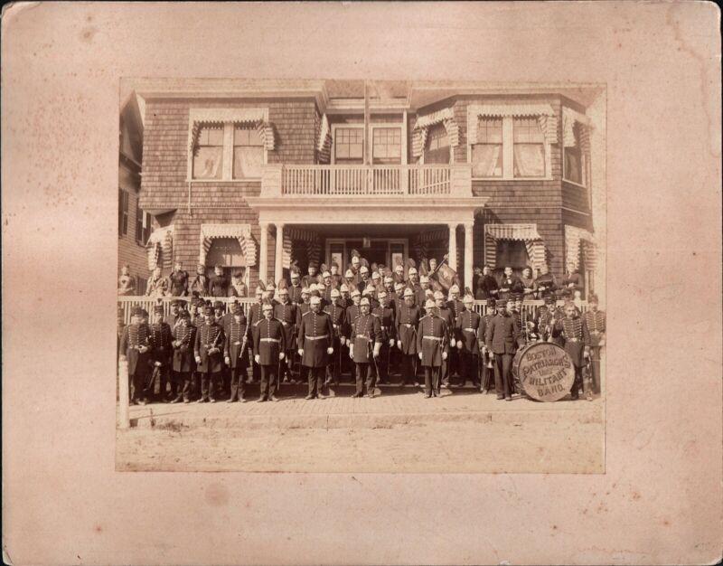 1800s Boston Patriarchs I.O.O.F. Odd Fellows Militant Band Original Group Photo