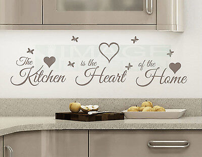 Home Decoration - The Kitchen is the Heart of the Home Vinyl Wall Quote Sticker Decal Wall Art