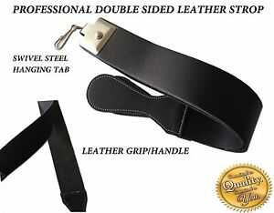 LEATHER BARBER SALON STRAIGHT CUT THROAT RAZOR BLADE SHARPENING STROP/BELT/STRAP