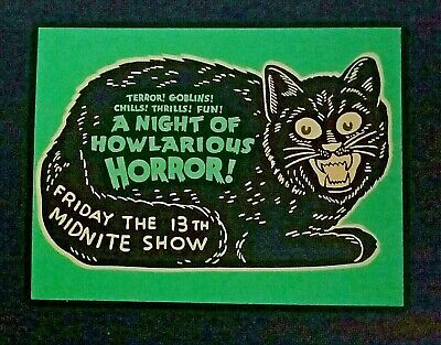 *UNUSED* Halloween Postcard: Advertising Black Cat Vintage Image~Reproduction