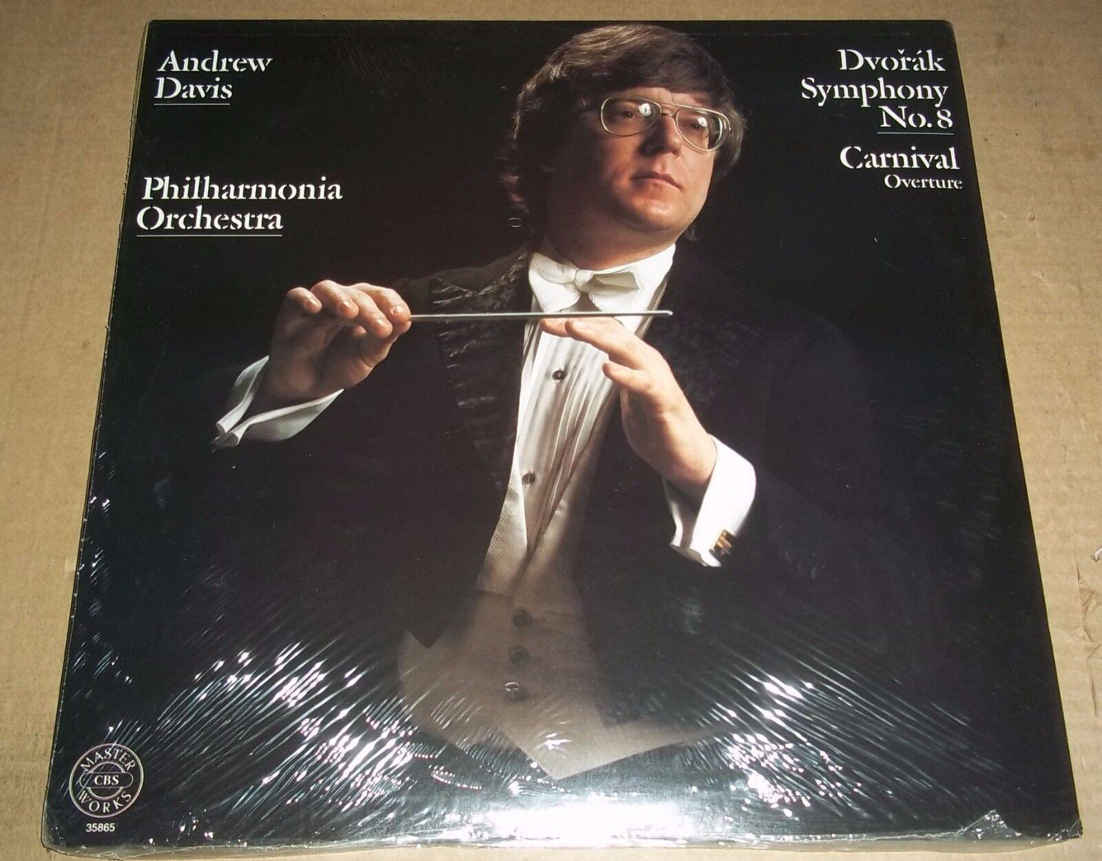 Andrew Davis DVORAK Symphony No.8, Carnival Overture - CBS 35865 SEALED