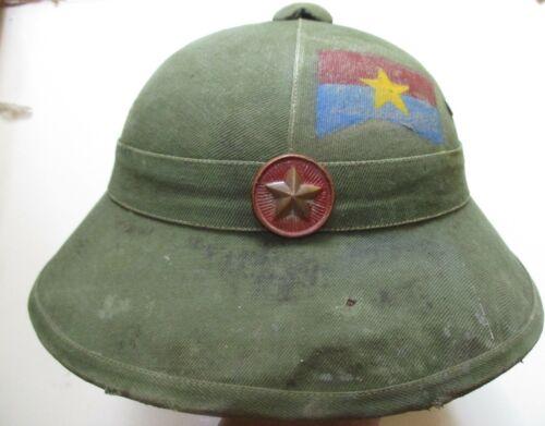 Vietnam War - HELMET - COMBAT HELMET - VC - FIGHTING UNIFORMS - VIET CONG