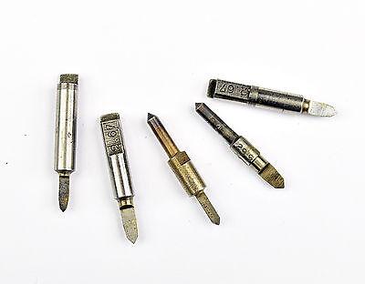 5 x Uhrmacher Reibahlen alt Uhrmacherwerkzeug watchmaker tool