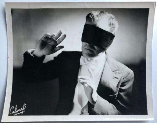 DR. HARLAN TARBELL, MAGICIAN, AUTHOR, CARTOONIST, 8 X 10 CALVERT PHOTOGRAPH