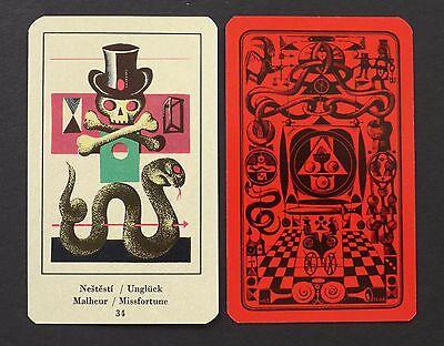 Vintage Fortune Telling Oracle Tarot Cards Deck by Vladimir Tesar 1970 Czech