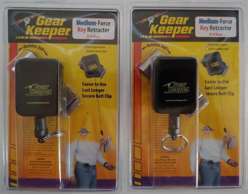 Lot of 2 Gear Keeper RT4-5851-E Medium Force Key Retractor Belt Clip 36 in Long