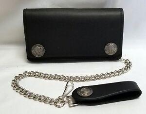1a6ba3409b89 Buffalo Nickel Black Leather Trucker Wallet 6