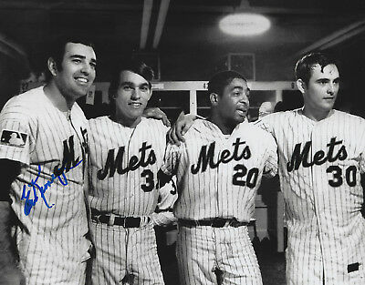 - Ed Kranepool Autographed Signed 8x10 Photo - W/COA MLB 1969 NY Mets World Champs