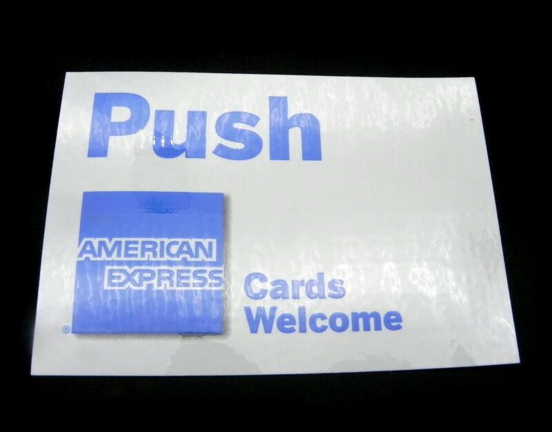"Lot of 24 American Express Welcome Decals 4.5"" x 3"" Store Business Restaurant"