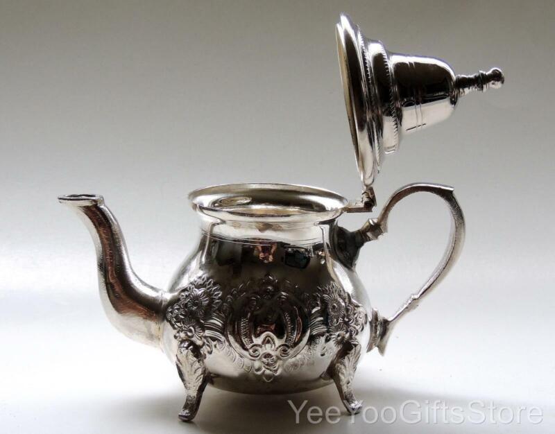 RARE-FINE Persian/Turkish/Middle-East SOLID SILVER hallmarked TEA POT/Kettle