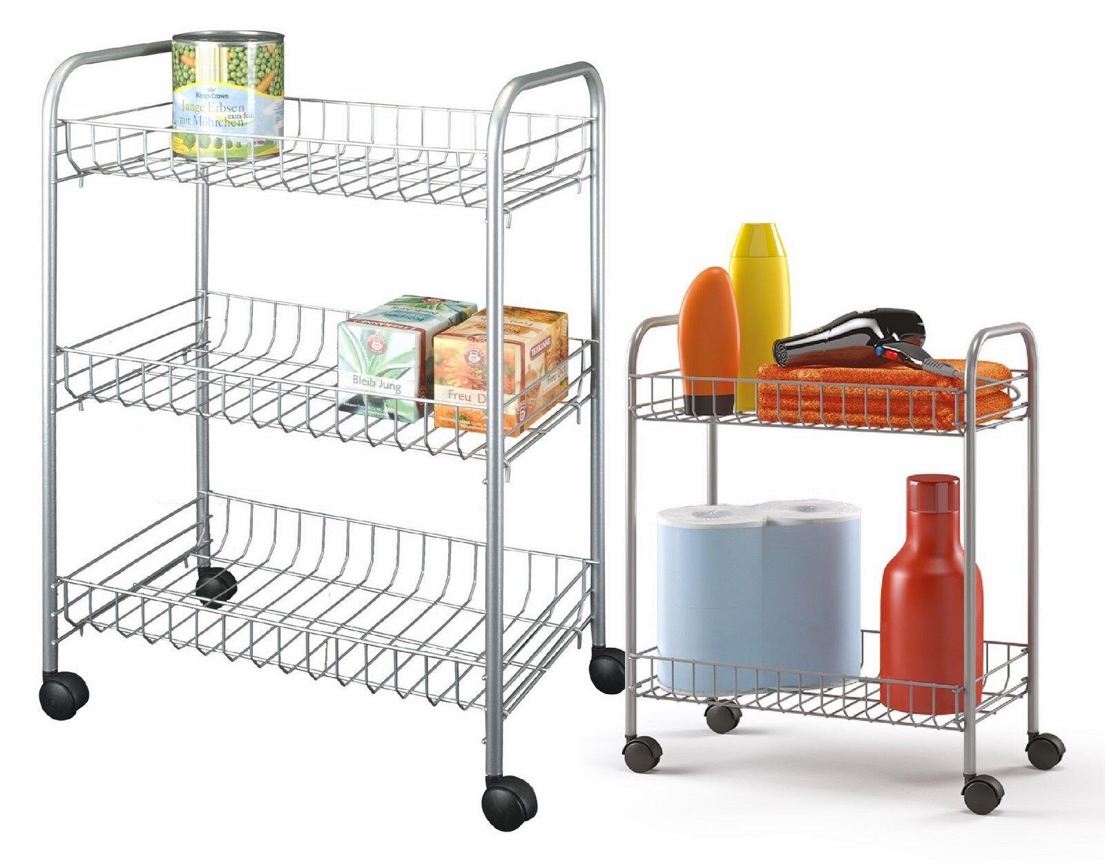 Küchenwagen  Küchenregal Küchenrollwagen Allzweckwagen 2.3 or 4 Etagen Grau