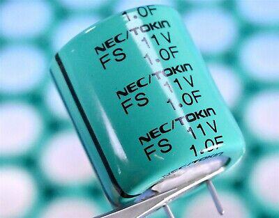 Nec Tokin Kemet 11vdc 1f One Farad Radial Supercapacitor 28.5mm Pn Fs1a105z