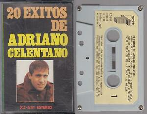 ADRIANO-CELENTANO-cassette-tape-20-EXITOS-1975-Spain