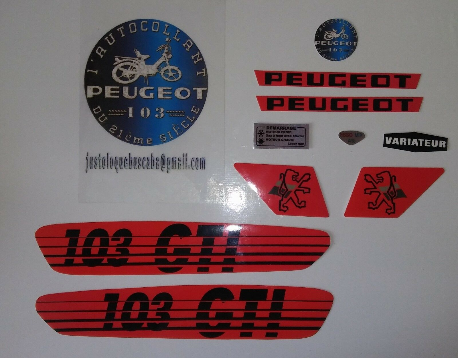 Autocollant Peugeot 103 GTI .