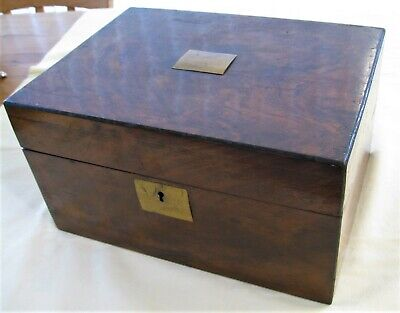 Victorian Writing Slope Rosewood English Small Folding Box