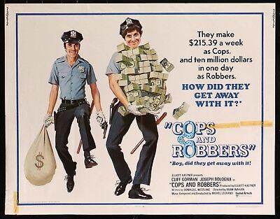 COPS AND ROBBBERS Joseph Bologna  ORIGINAL 1973 HALF SHEET MOVIE POSTER