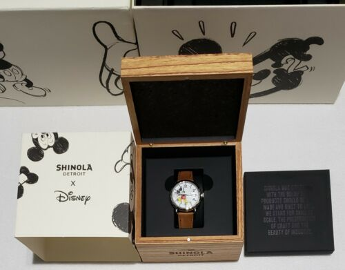 Shinola Disney Mickey Mouse Watch Extremely Limited Edition to 90- New