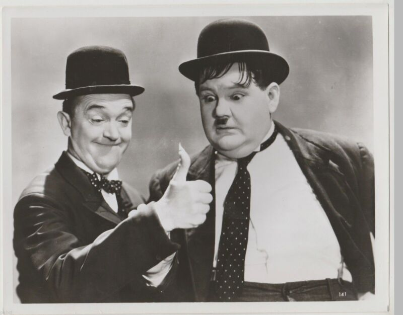 Laurel And Hardy Great Comedians 8x10 Photo Print