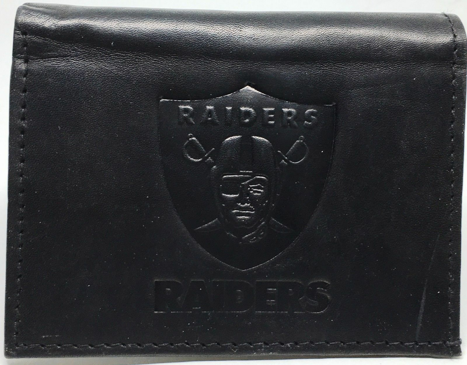 Brand New NFL Team Black Tri-Fold Leather Wallet / Assorted Teams