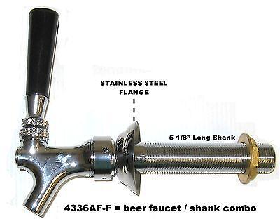 Draft Beer Faucet And Shank 5 18 Shank - Kegerator Tap Set Beer Part 4336af-c