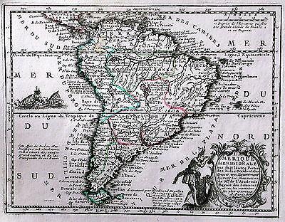 Antique map, L'Amerique Meridionale