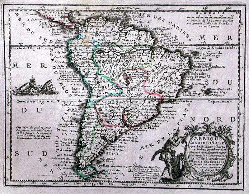 Antique map, L