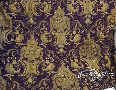 Damask Decorations (Chenille Renaissance damask  Decor Upholstery Purple Sold By  Yard 58