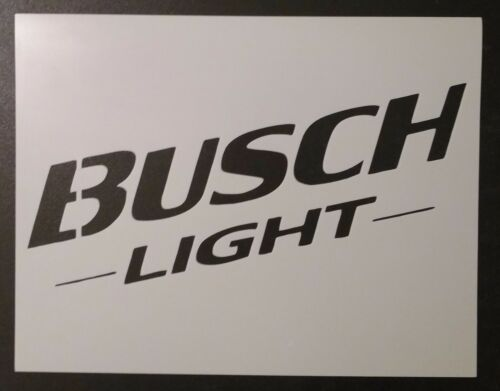 "Busch Light Beer 11"" x 8.5"" Stencil FAST FREE SHIPPING"