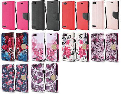 Wallet Pouch Case Phone Cover for ZTE ZFive G C Z557BL Z558VL  ()