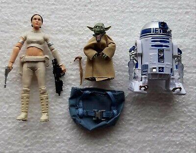 Star wars black series R2D2, yoda and padma amidala action Figure
